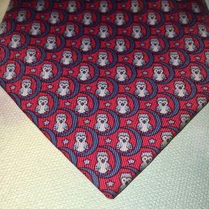 Hermès Silk Necktie Made in France Owls Perched